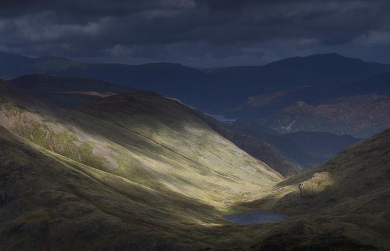 Light over Styhead Tarn & Derwent Water