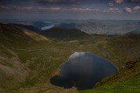 Red Tarn and Ullswater from Helvellyn Summit