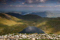 Red Tarn and Ulswater from Helvellyn Summit