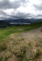 View towards Derwent Water and Borrowdale Fells from Latrigg Summit