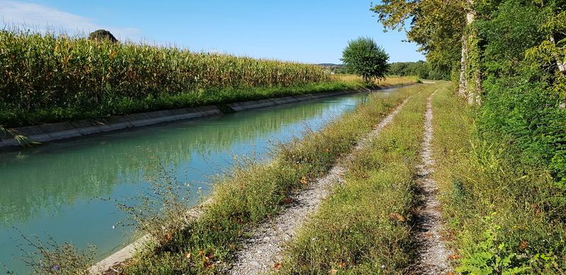 Side channel Mincio River