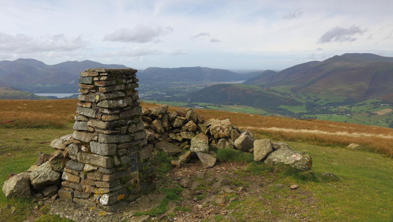 Clough Head Trig Point and Wind Shelter
