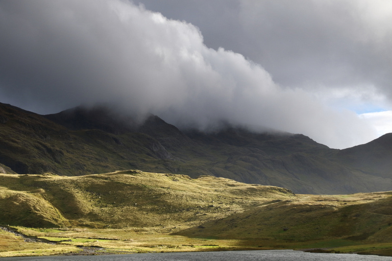Scafell PIke (in the clouds)