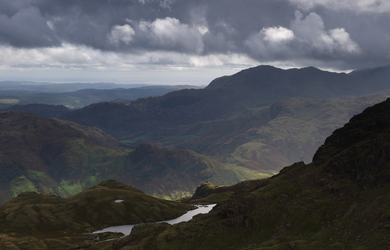 Pavey Ark and Stickle Tarn  from Sergeant Man