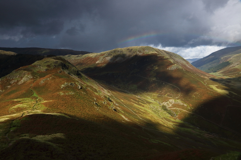 Light over Greenburn Valley and Steel Fell