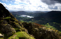 Grasmere from path up Helm Crag