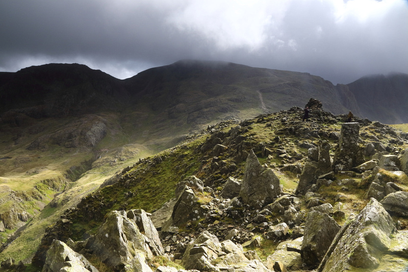 Towards Scafell Pike from Lingmell
