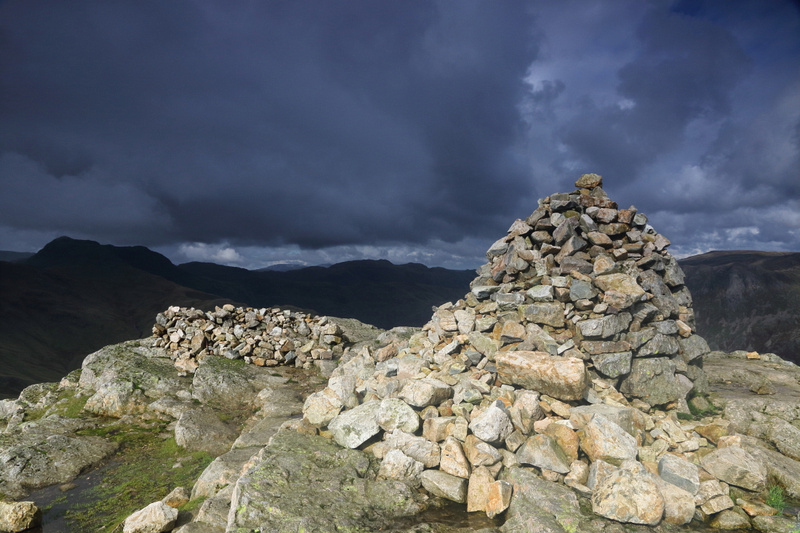 Pike O'Blisco north summit cairn