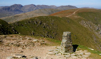 Ordnance Survey pillar, summit of Old Man of Coniston