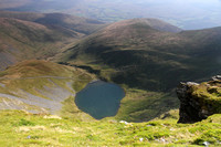 Looking down on Scales Tarn