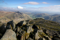 Bowfell and Crinkle Crags