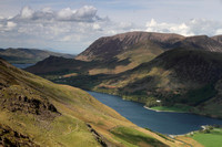 View over Buttemere towards Grasmoor and Crummock Water