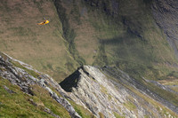 Sharp Edge and practicising rescue helicopter