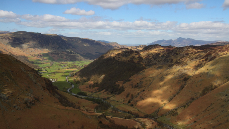 Borrowdale View, climbing Eagle Crag