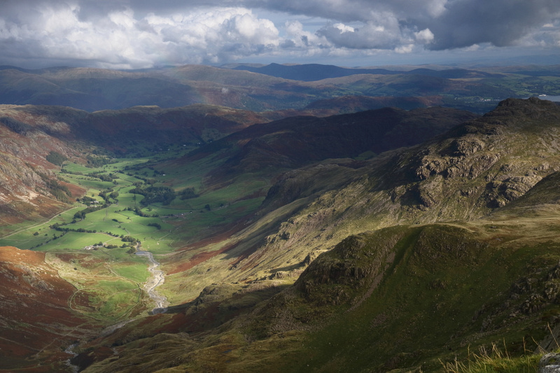 Langdale from Crinkle Crags