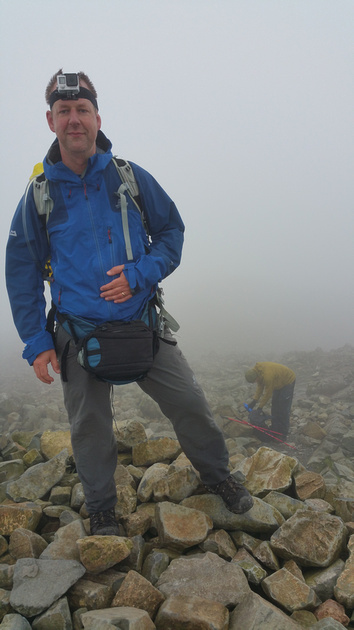 Scary photo of me at Scafell Pike Summit