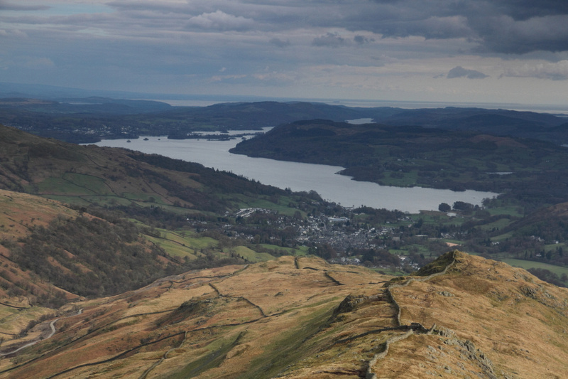 View towards Windermere and Low Pike from High Pike