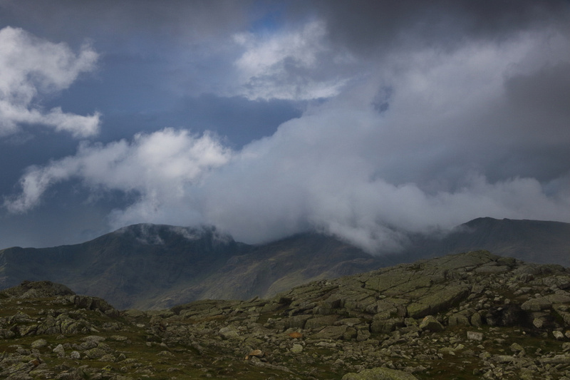 Brroding skies over Scafell range