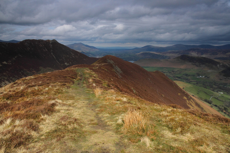 Descending from Ard Crags (with Causey Pike to the left)