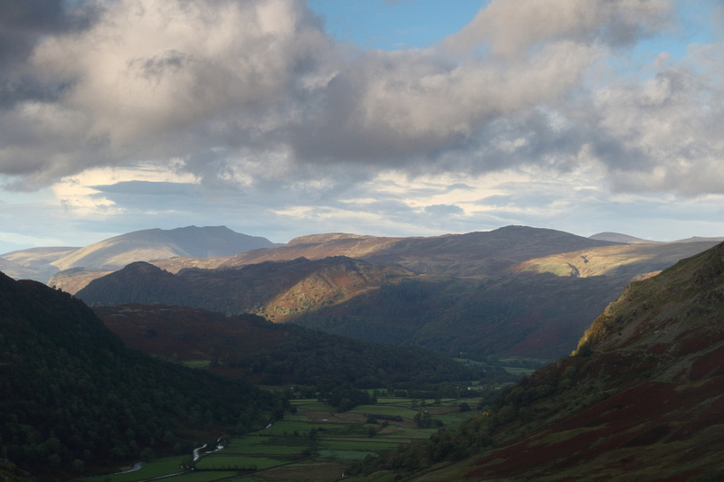 Evening light across Borrowdale