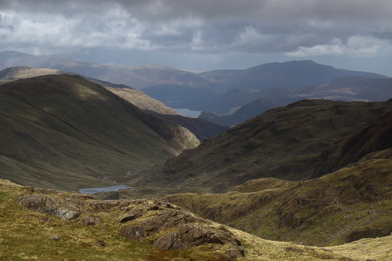 Styhead Tarn and Derwent Water from Corridor Route