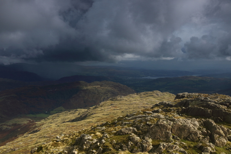 Approaching storm, Pike O'Blisco