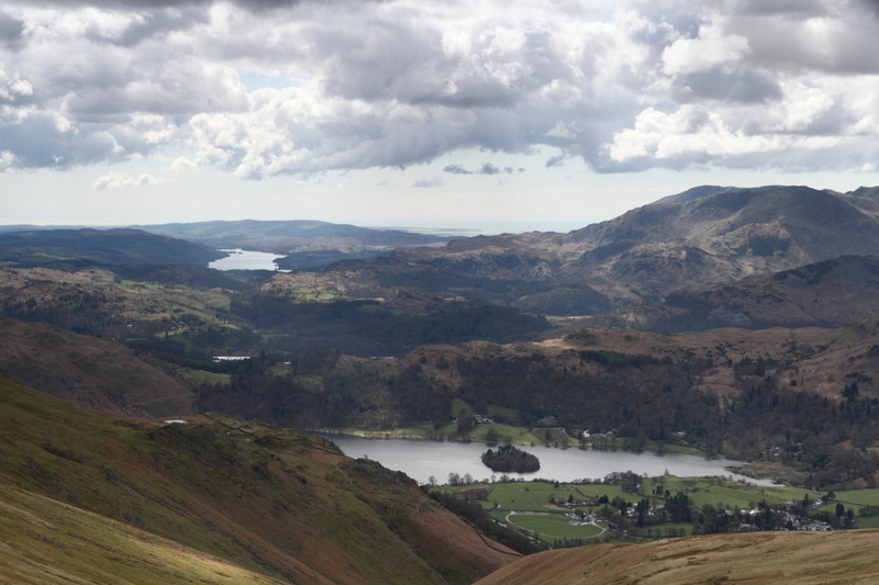Windermere & Grasmere on route to Great Rigg