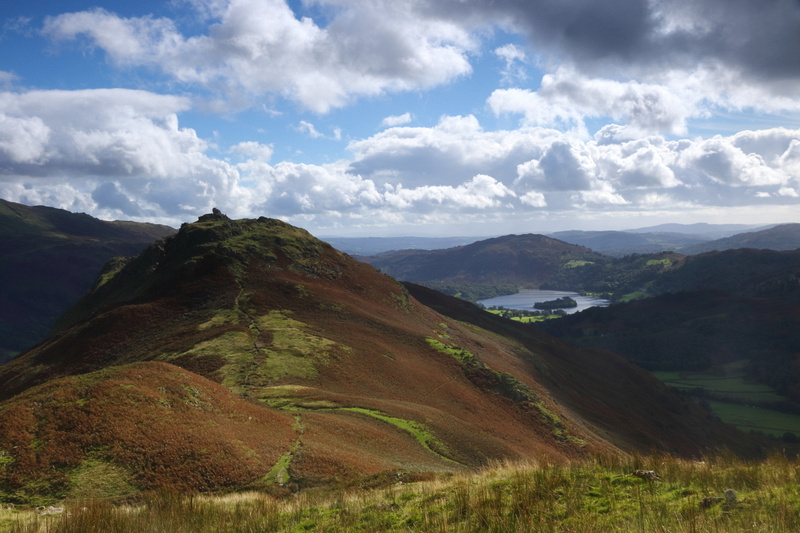 View back to the Lion & Lamb and Grasmere