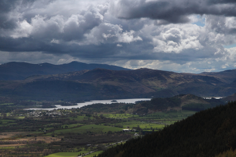 Derwent Water and Eastern Fells, from between Barf and Lord's Seat
